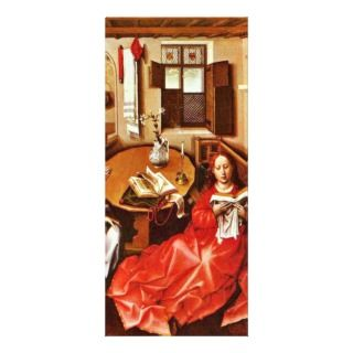 Mérode Altar Middle Panel Annunciation By Campin Rack Card Template