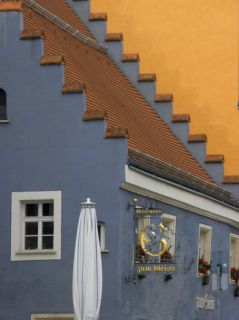 Step Gabled Roof, Straubing, Bavaria, Germany Photographic Print by Lisa Engelbrecht