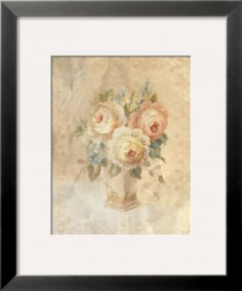 Faded White Roses Pre made Frame