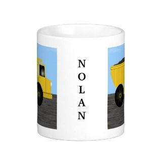 Nolan Dump Truck Personalized Name Mug
