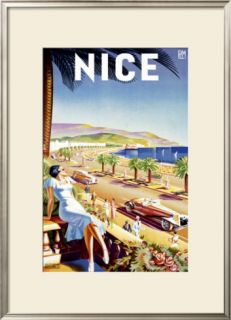 Nice, Riviera Beach Resort Framed Giclee Print