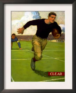 College Football Player Slips Clear of a Tackle and Runs for the End Zone, 1910 Pre made Frame