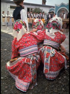 Czechoslovakians in Traditional Costumes Premium Photographic Print by Bill Ray