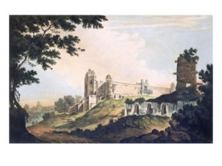 Pl. 12 a View of the Mosque at Futtipoor Sicri, from Select Views in India, Pub. 1785 88 Giclee Print by William Hodges