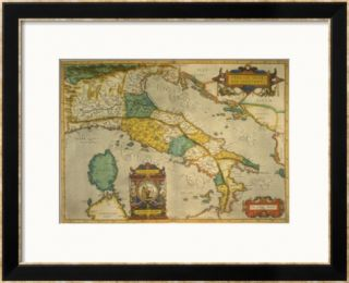 Map of Italy Pre made Frame