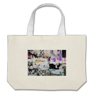 Graffiti Wall Banksy Style Torn Paper Tote Bag