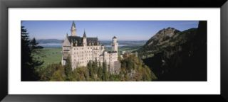 Castle on a Mountain, Bavaria, Germany Pre made Frame