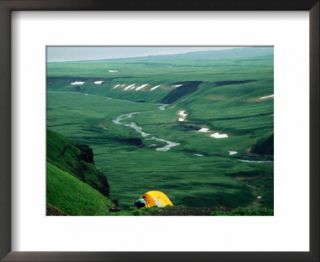 Overhead of Tent and Camper on Northeast Side of Okmok Caldera, United States of America Pre made Frame