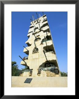 Tank Monument to Peace Commemorating the End of the 1975 1990 Civil War, Yarze, Beirut, Lebanon Pre made Frame