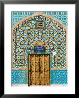 Tiling Around Door, Shrine of Hazrat Ali, Mazar I Sharif, Afghanistan Pre made Frame