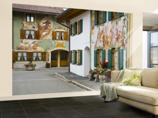 Mittenwald, Luftlmalerei, Bavaria, Germany Wall Mural – Large by Alan Copson