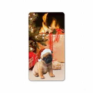 Christmas Pug Puppy Label Stickers