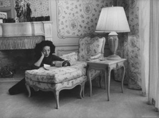 Mexican Actress Maria Felix at Her Home Premium Photographic Print by Allan Grant