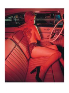 Pin Up Girl: Pink Tattoo Giclee Print by David Perry