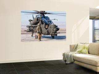 An Italian Army Agusta Aw129 Mangusta Attack Helicopter Wall Mural by Stocktrek Images