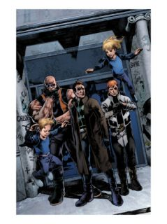 X Factor #200 Group: Richards, Franklin, Richards, Valeria, Madrox, Strong Guy and Shatterstar Print by Esad Ribic