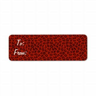 Red Leopard Gift Tag Stickers Custom Return Address Labels