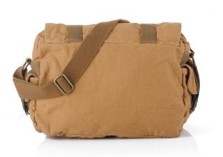 New Fashion Mens Women Canvas Shoulder Bag Messenger Bag School Book