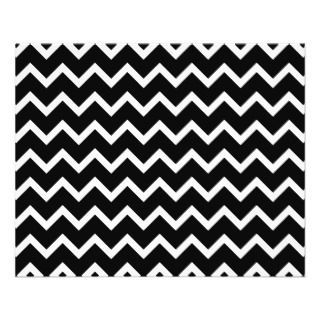 Black and White Zig Zag Pattern. Full Color Flyer