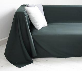 Tagesdecke Plaid Überwurf Sofaüberwurf 140x210cm grün