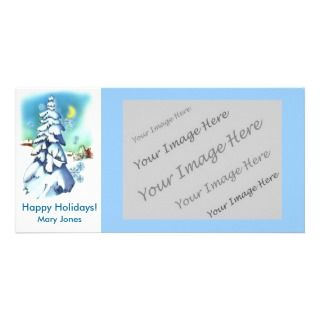 Happy Holidays Winter Scene Photo Greeting Card