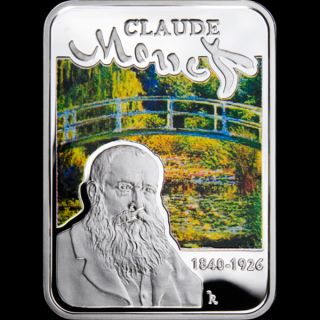 Niue 2010 1$ Claude Monet Painters of the World Proof Silver Coin