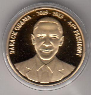 Medaille USA  Barack Obama  44th President 2009 2013