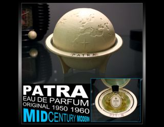 MIDCENTURY MODERN PATRA GERMAN PERFUME PARFUM ¾ FULL POST ART DECO