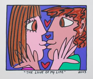 James Rizzi   The Love Of My Life  Farblithografie   2D