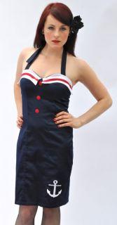 Küstenluder 50´s ANKER Satin KLEID Dress Rockabilly