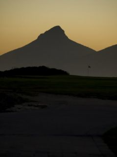 Silhouette of Lions Head Mountain, South Africa Photographic Print by Stacy Gold