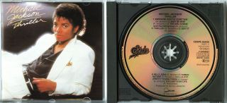 MICHAEL JACKSON Thriller 1982 CD 1pr, w NEU Beat It NO REMASTER Paul