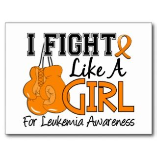 Leukemia Orange Ribbon Postcards & Postcard Template Designs