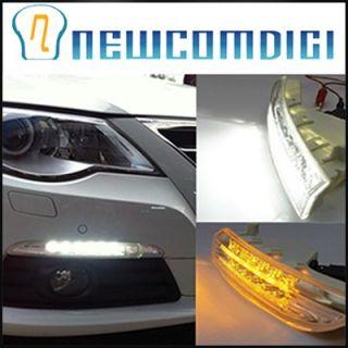 Running Day Fog Light Lamp Turn Signal Fit For VW Passat CC 2009 2012