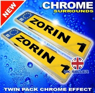 BMW FIT CHROME NUMBER PLATE SURROUNDS TWIN PACK