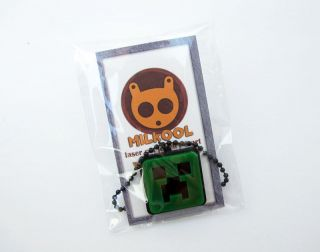 Minecraft creeper acrylic geeky pixels necklace
