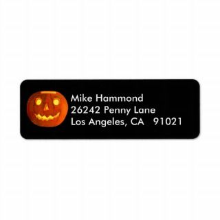 Vintage Halloween Jack O Lantern Return Address Labels