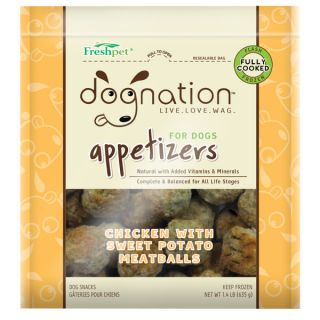 Freshpet� Dog Nation™ Appetizers Chicken with Sweet Potato Meatballs   Dog