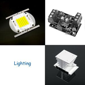 High Power 50W White LED + Driver + Heat Sink