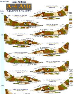 Skys Decals 1/72 DOUGLAS A 4 SKYHAWK AYIT Israeli Air Force