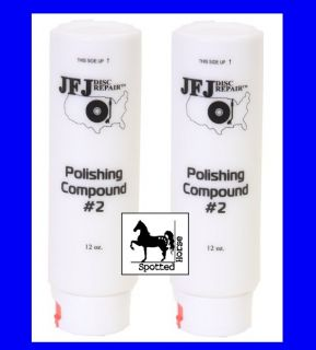 Compound #2 (WHITE) 12oz for JFJ Easy Pro / Disc Repair [2 Pack] New