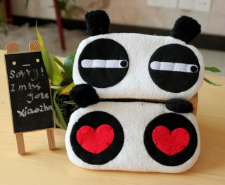 Lovely Panda Plush Cosmetic Bag Storage Handbag Purse