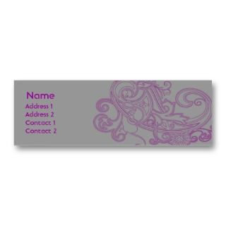 Pink Floral Pattern   Skinny Business Card Templates