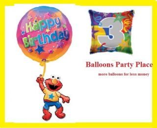 ELMO FLOATING 1ST 2nd 3rd 4th birthday party balloons sesame street