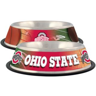 Ohio State Buckeyes Stainless Steel Pet Bowl   Team Shop   Dog