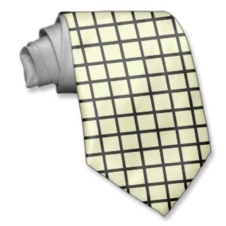 Template Plain Black Line Check Pattern Neck Tie