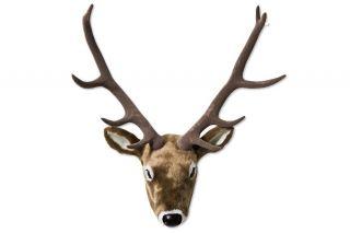 Kare Design Deko Geweih Hirsch Wild Deer Fur Big Braun Fell Dekoration