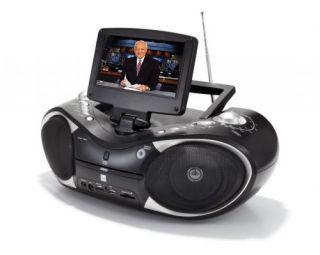 Boombox mit DVD DVB T 7 Zoll Display CD  Player Radio USB SD Card
