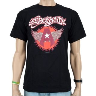 Aerosmith   Flying A Band T Shirt, schwarz