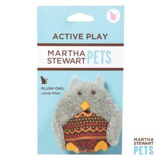 Martha Stewart Plush Owl Fair Isle Cat Toy   Plush Ow;l
